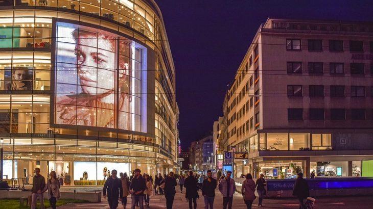 Einkaufsstrasse in Düsseldorf