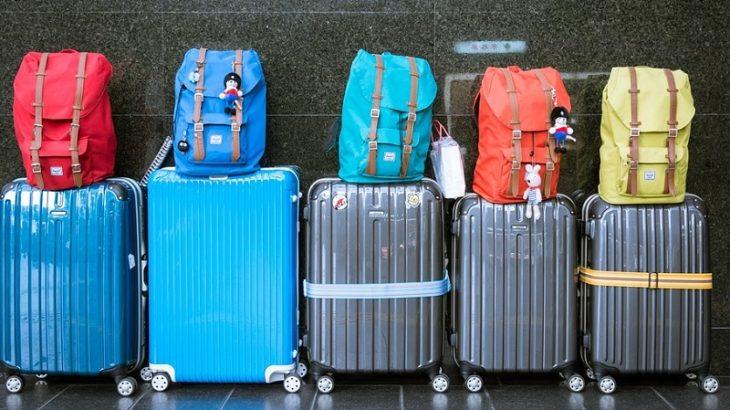Taschen auf Hartschalenkoffern