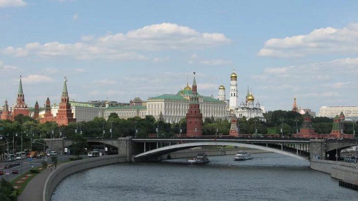 Blick auf die Stadt Moskau